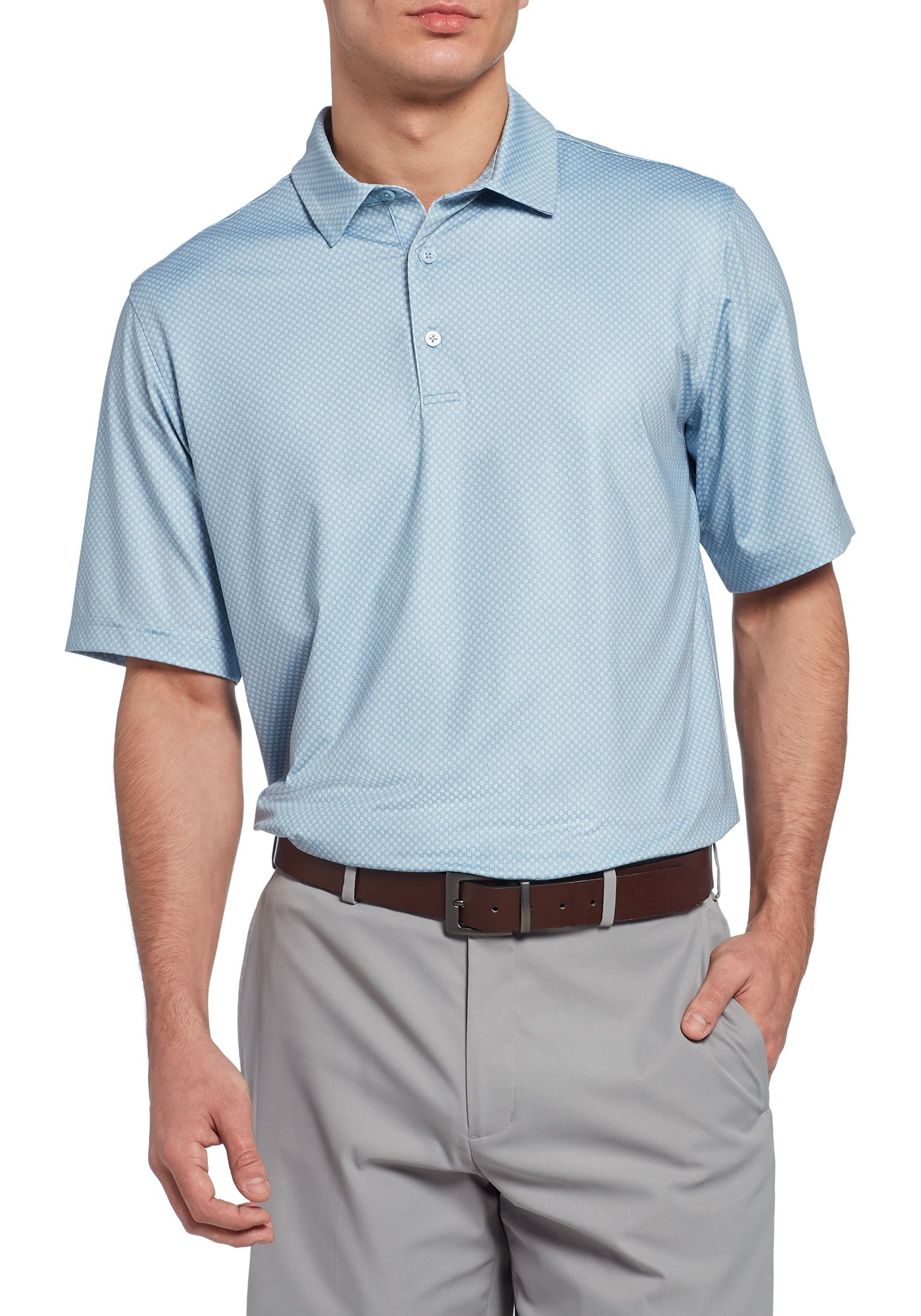 Walter Hagen Men's Perfect 11 Mini Square Golf Polo