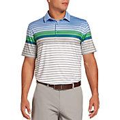Walter Hagen Men's 11 Majors Engineered Stripe Tailored Golf Polo