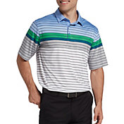 Walter Hagen Men's 11 Majors Engineered Stripe Golf Polo