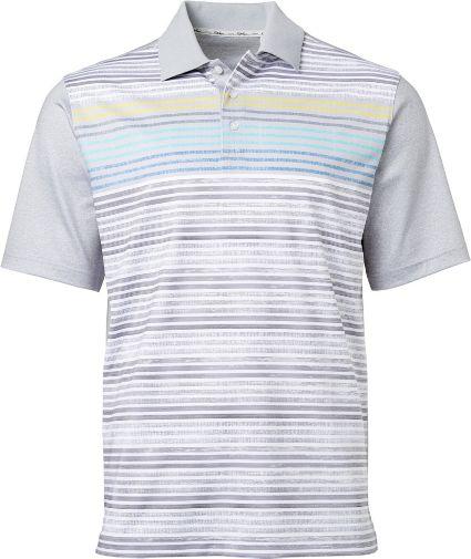 Walter Hagen Men's Perfect 11 Scattered Stripe Golf Polo