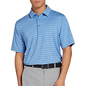Walter Hagen Men's 11 Majors Texture Heather Stripe Golf Polo