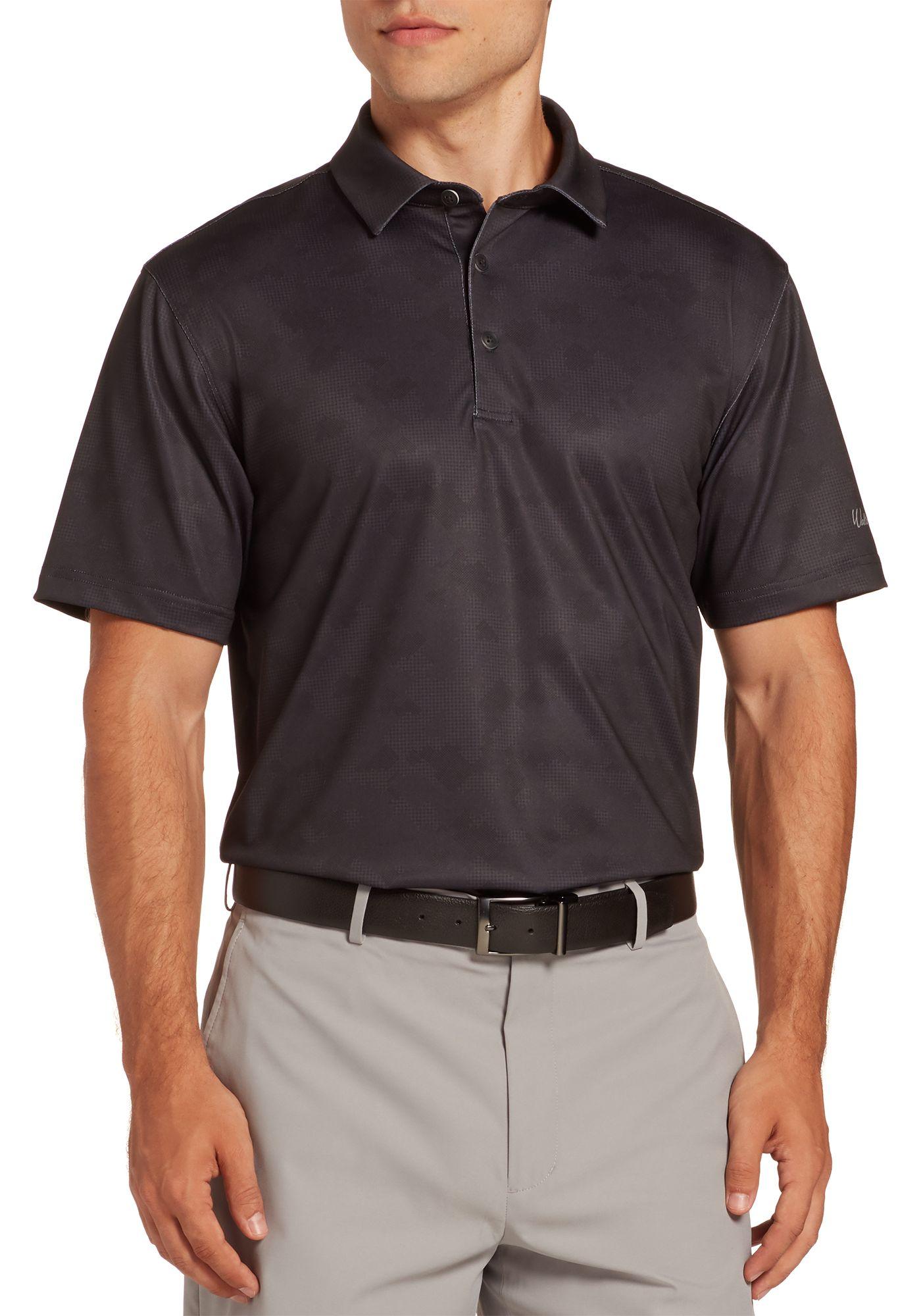 Walter Hagen Men's 11 Majors Gingham Camo Tailored Golf Polo