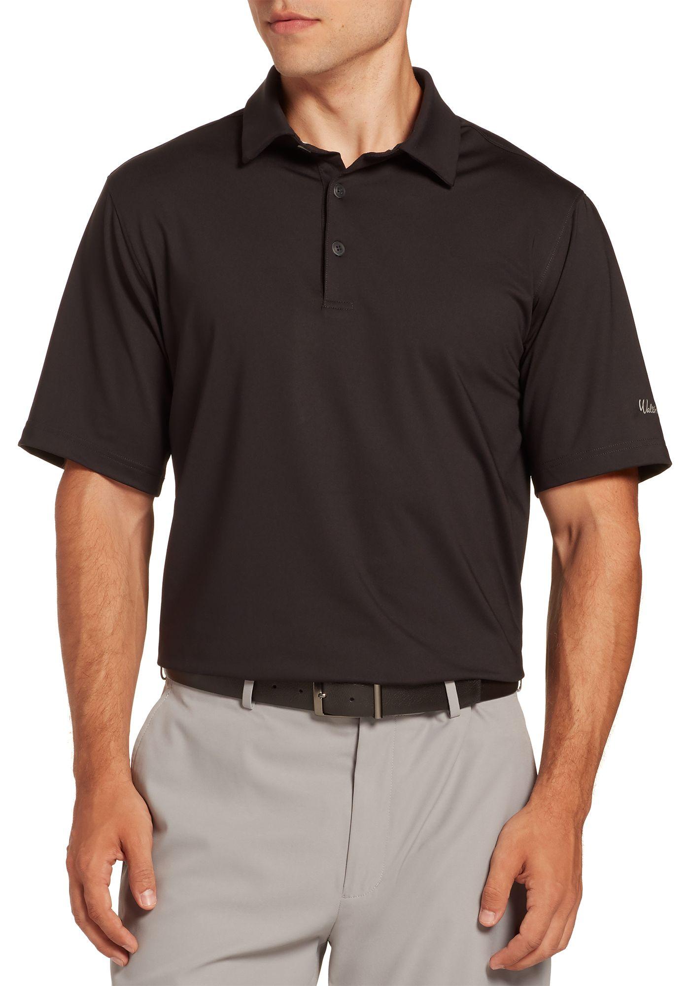 Walter Hagen Men's 11 Majors Solid Golf Polo