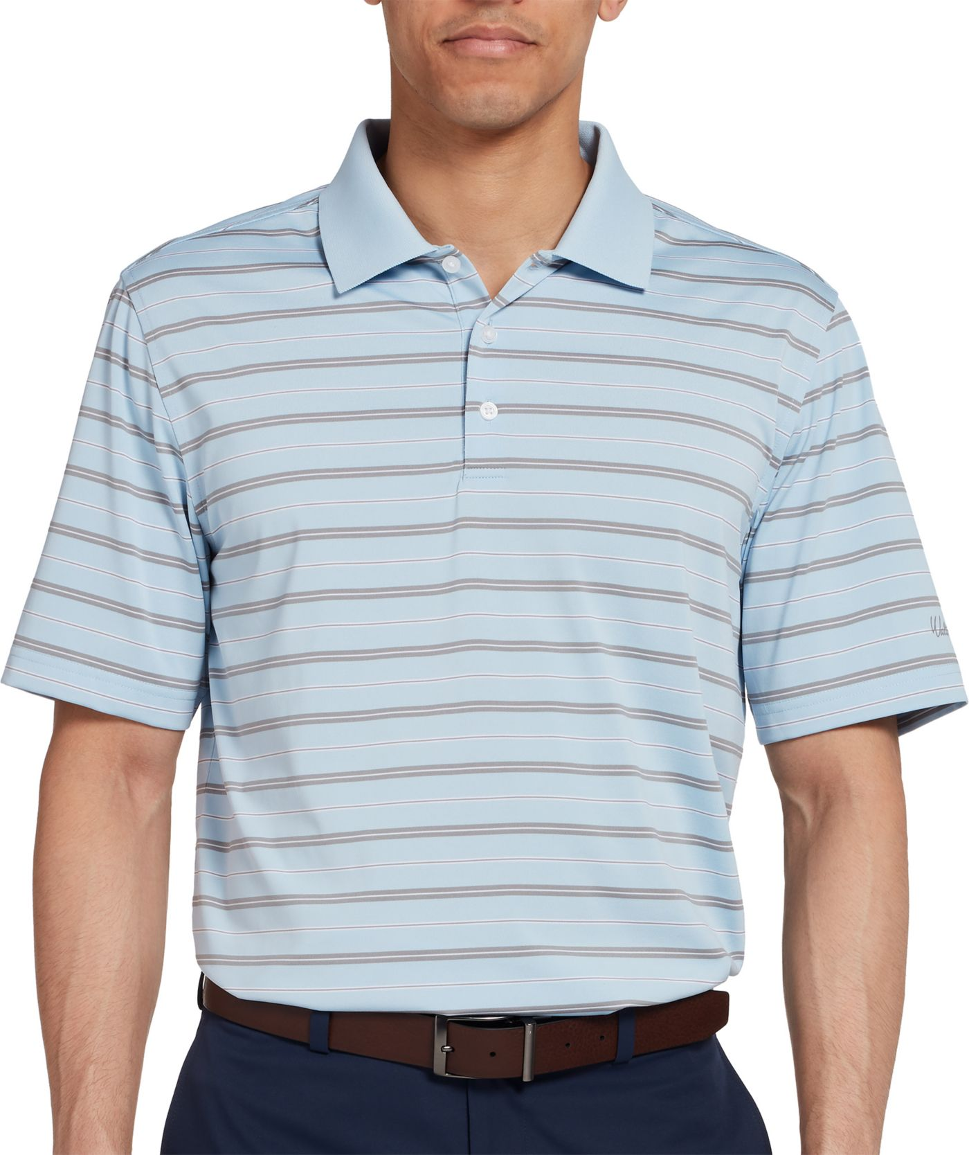 Walter Hagen Men's Essential Fairway Wide Stripe Golf Polo
