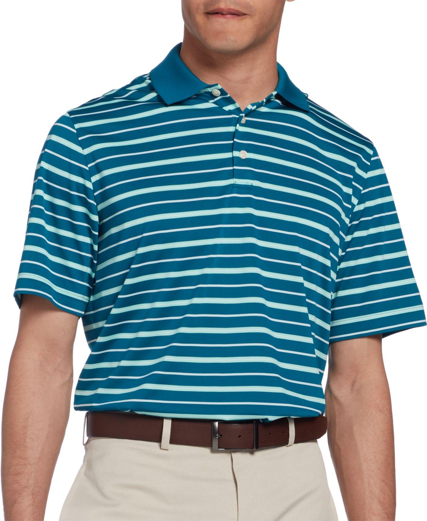 Walter Hagen Men's Essential Fairway Wide Stripe Golf Polo