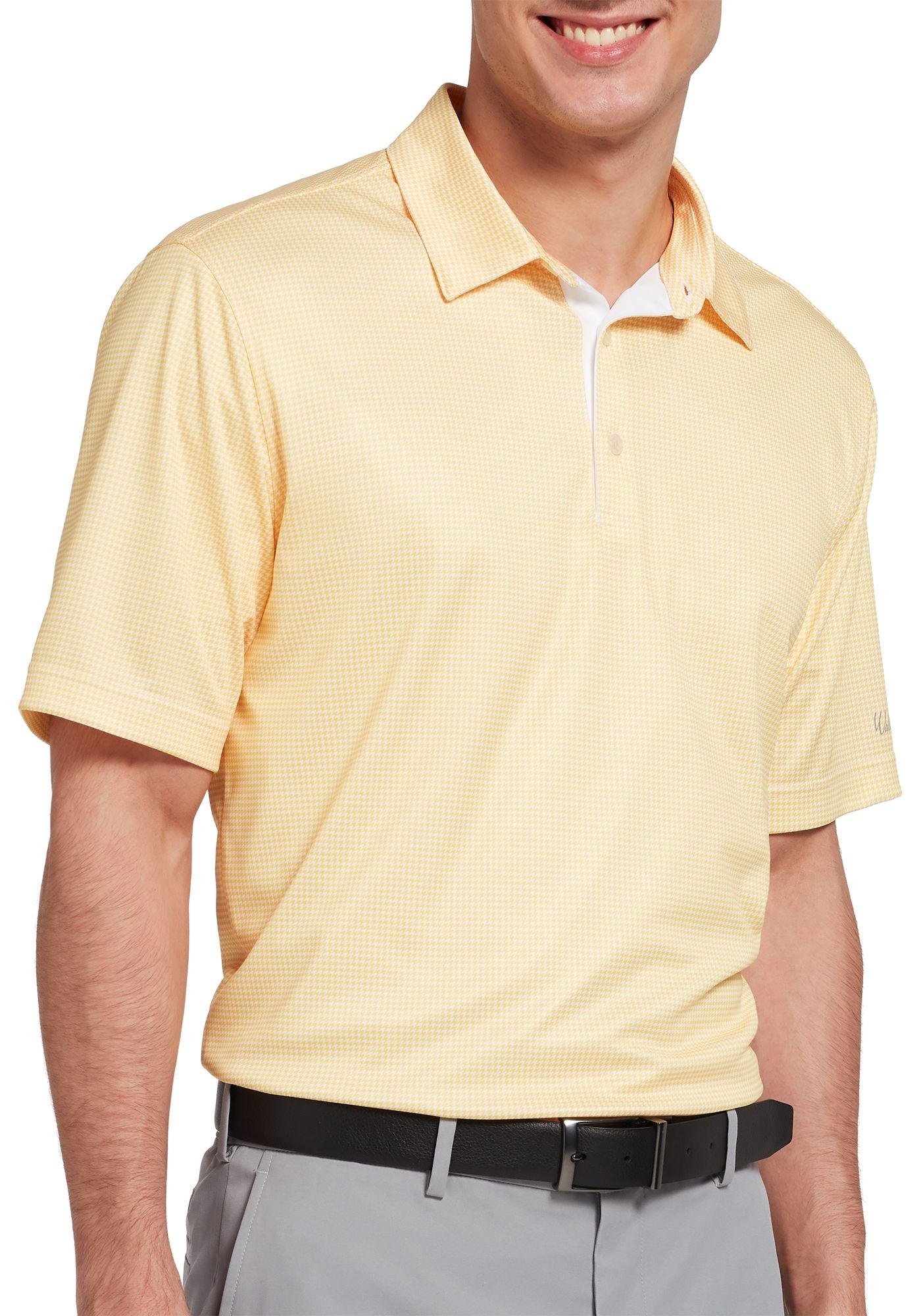 Walter Hagen Men's Essentials Houndstooth Printed Golf Polo