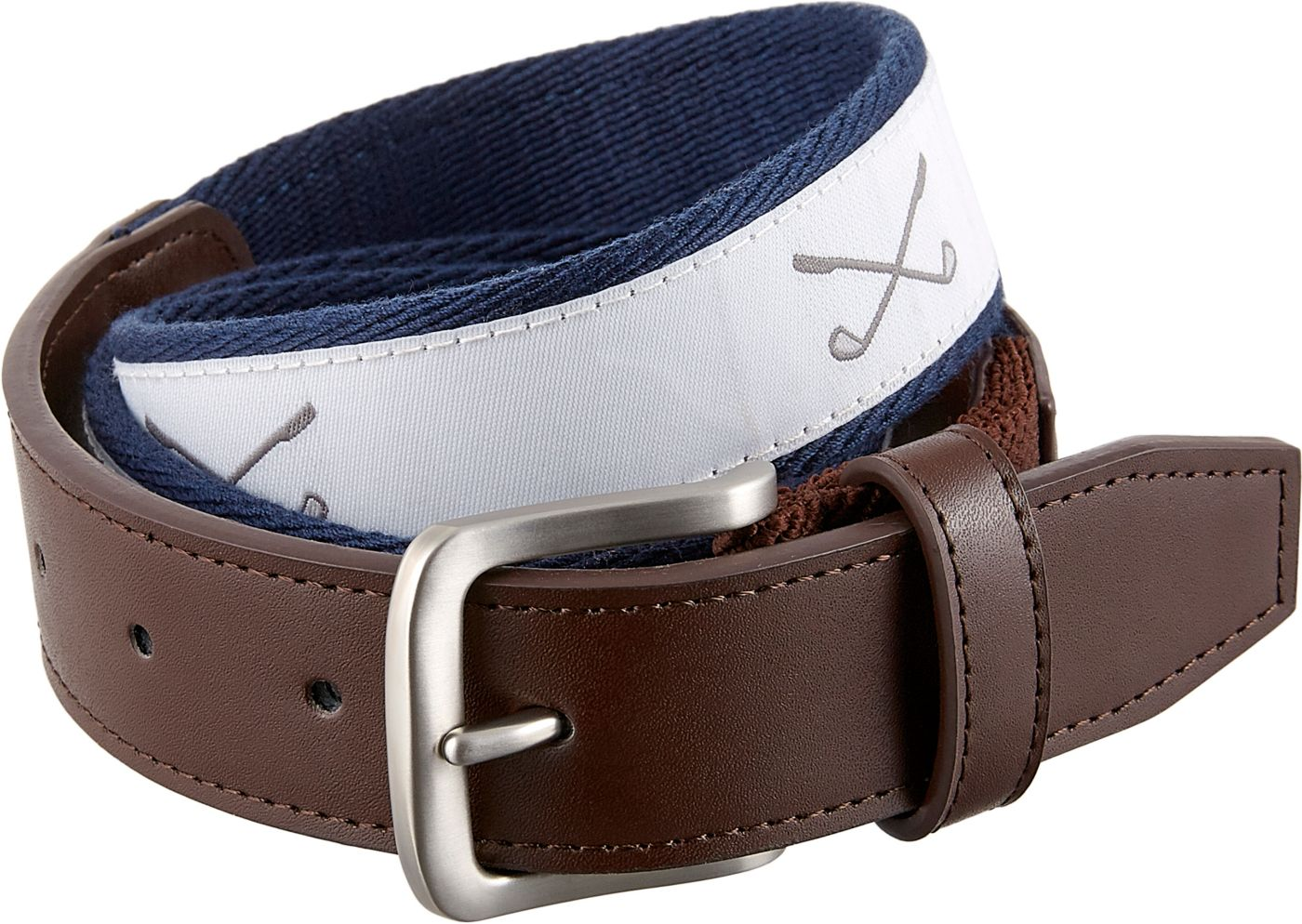 Walter Hagen Men's Canvas Printed Golf Belt