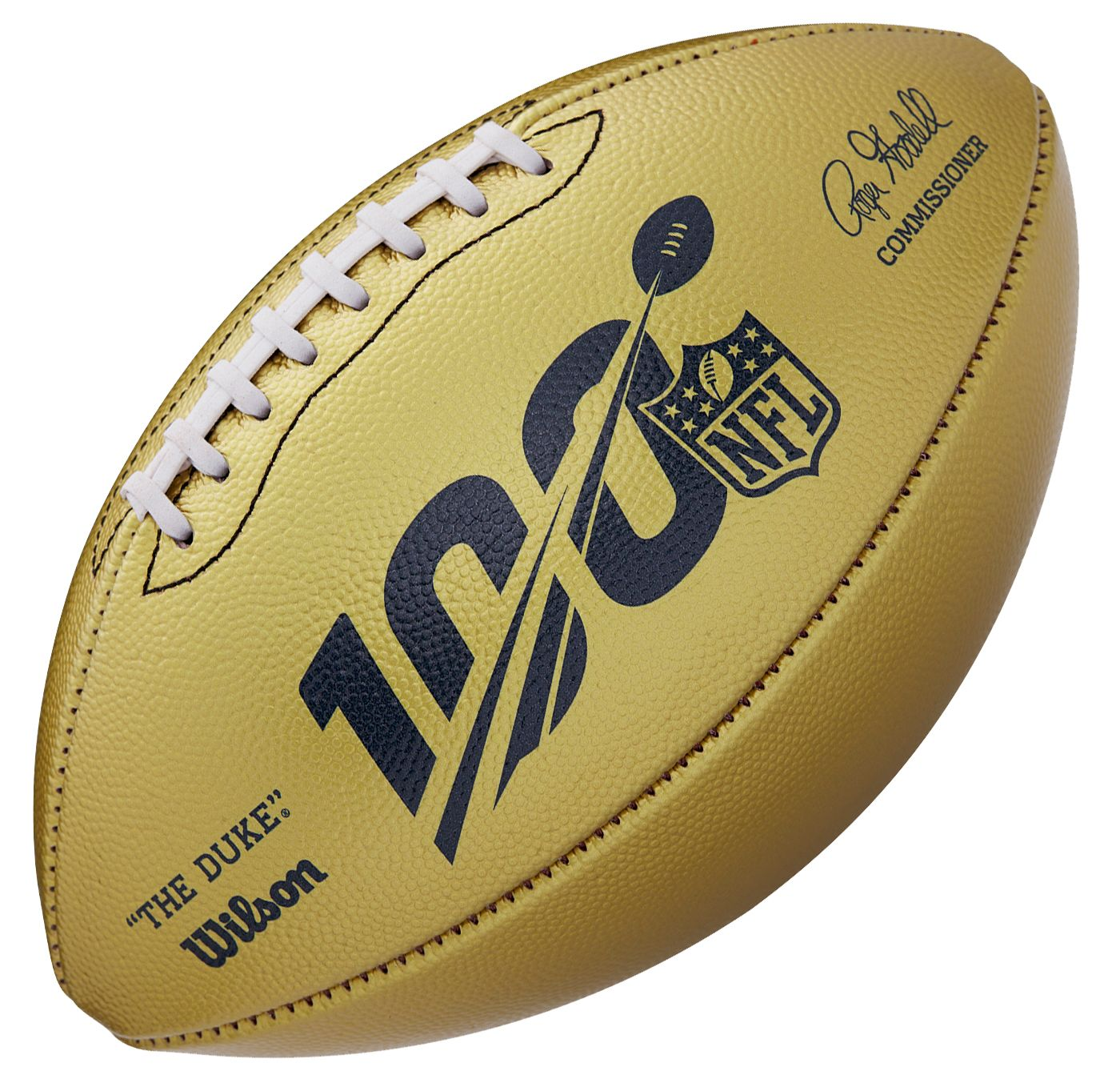 "Wilson NFL 100th ""The Duke"" Gold Metallic Football"
