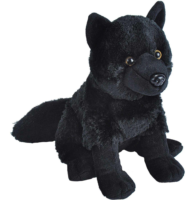 Wild Republic Cuddlekin Black Wolf Stuffed Animal