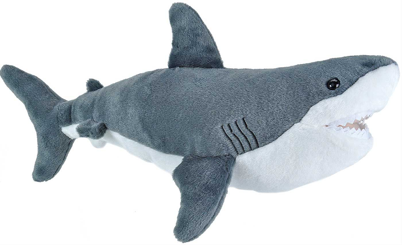 Wild Republic Cuddlekin Great White Shark Stuffed Animal