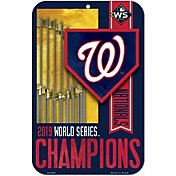 "Wincraft 2019 World Series Champions Washington Nationals 11"" x 17"" Sign"