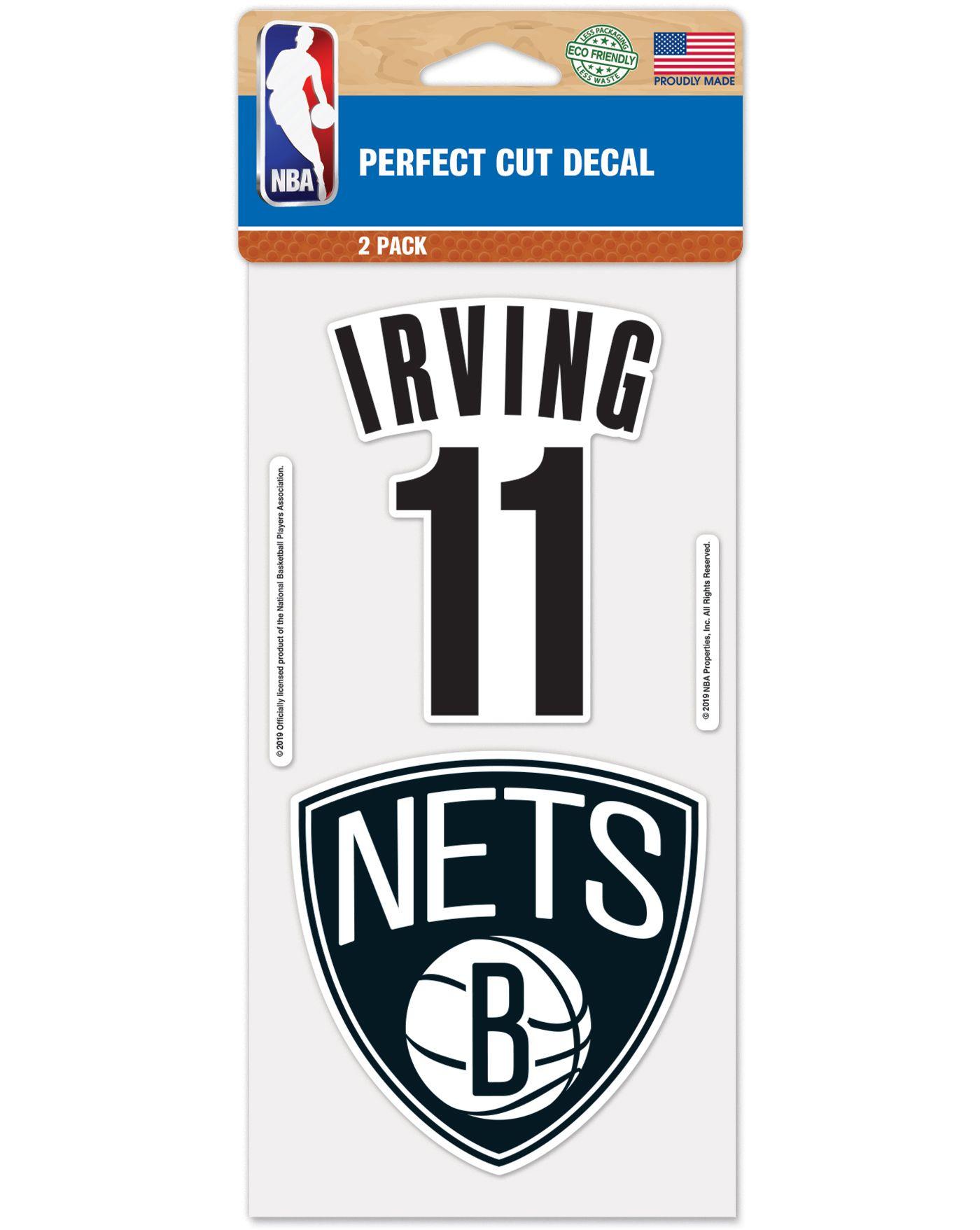 WinCraft Brooklyn Nets Kyrie Irving 2 Pk. Decal