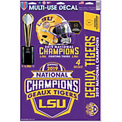 WinCraft 2019 National Champions LSU Tigers Decal Sheet