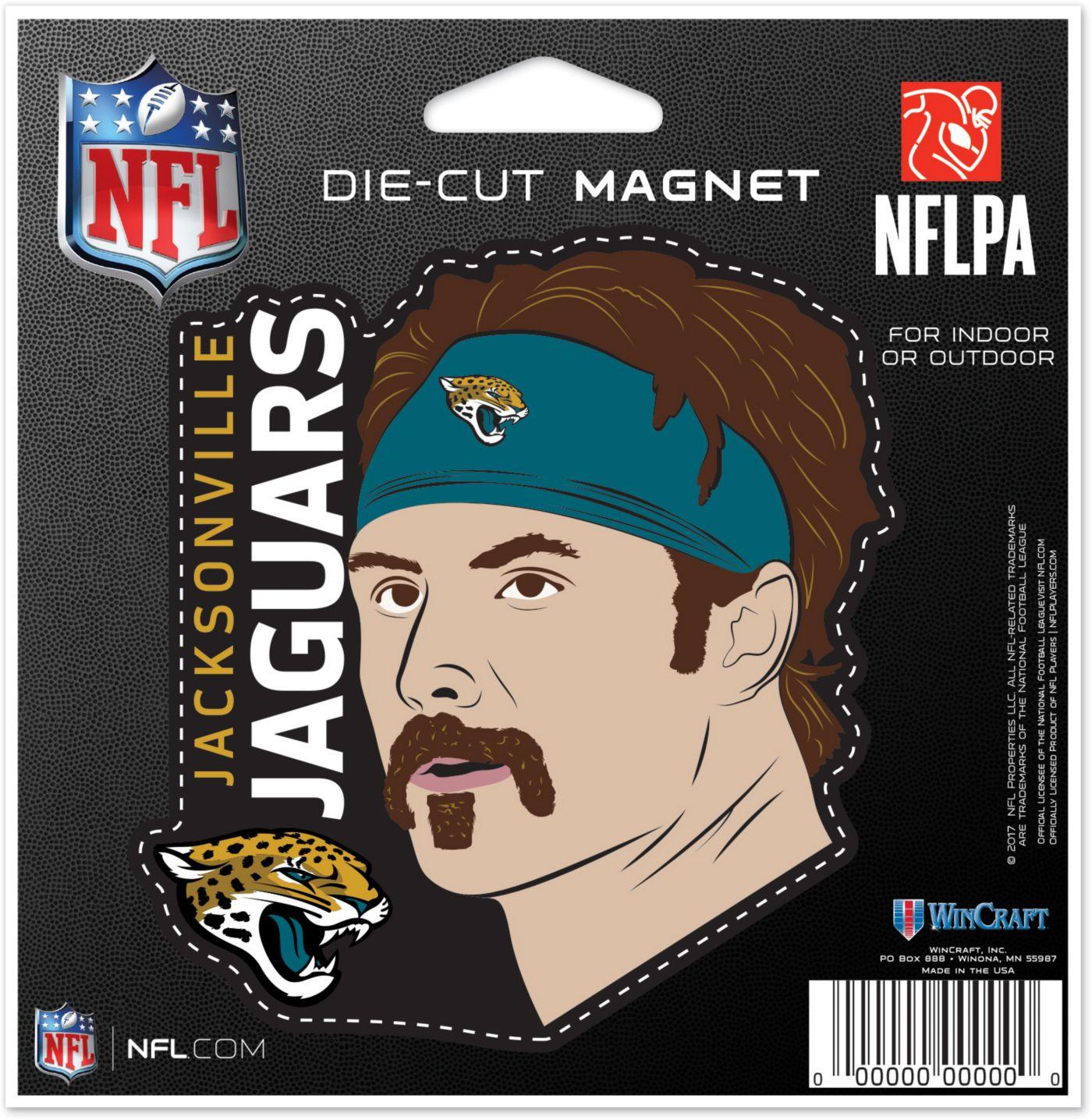 WinCraft Jacksonville Jaguars Gardner Minshew Die-Cut Magnet