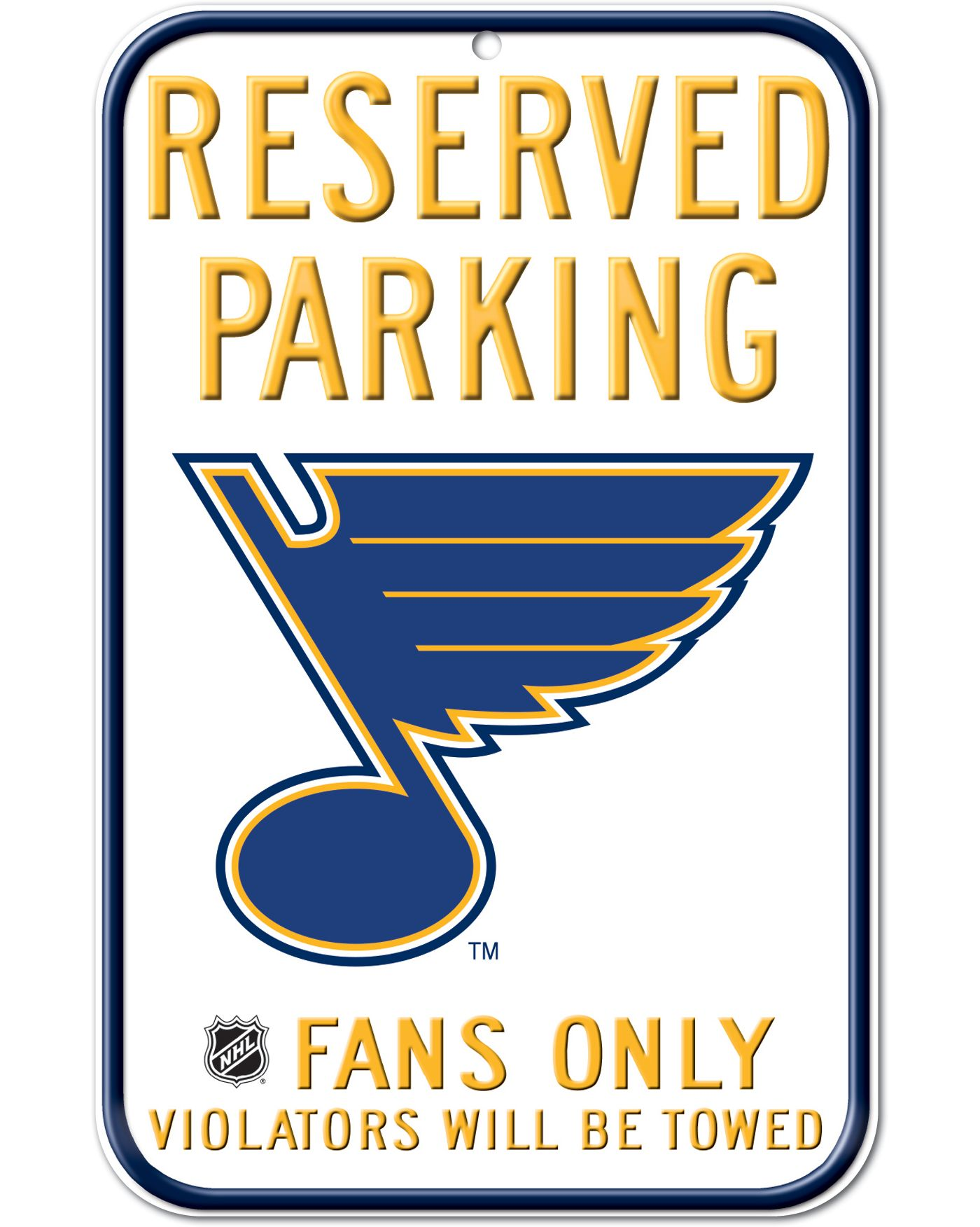Wincraft St. Louis Blues Parking Sign