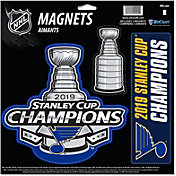 Wincraft 2019 NHL Stanley Cup Champions St. Louis Blues 3 Pack Magnet Set