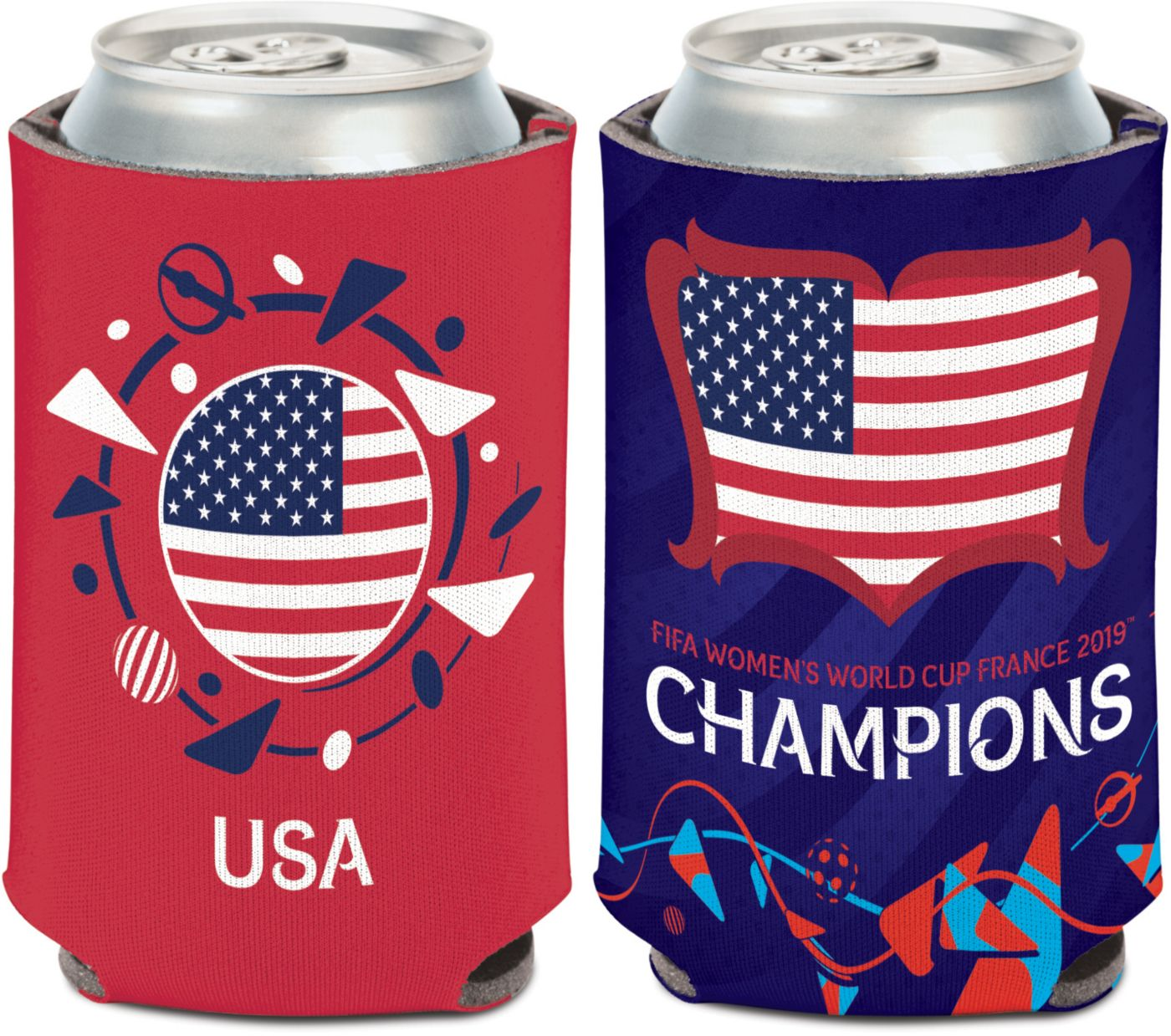 WinCraft 2019 FIFA Women's World Cup Champions USA Soccer Can Cooler