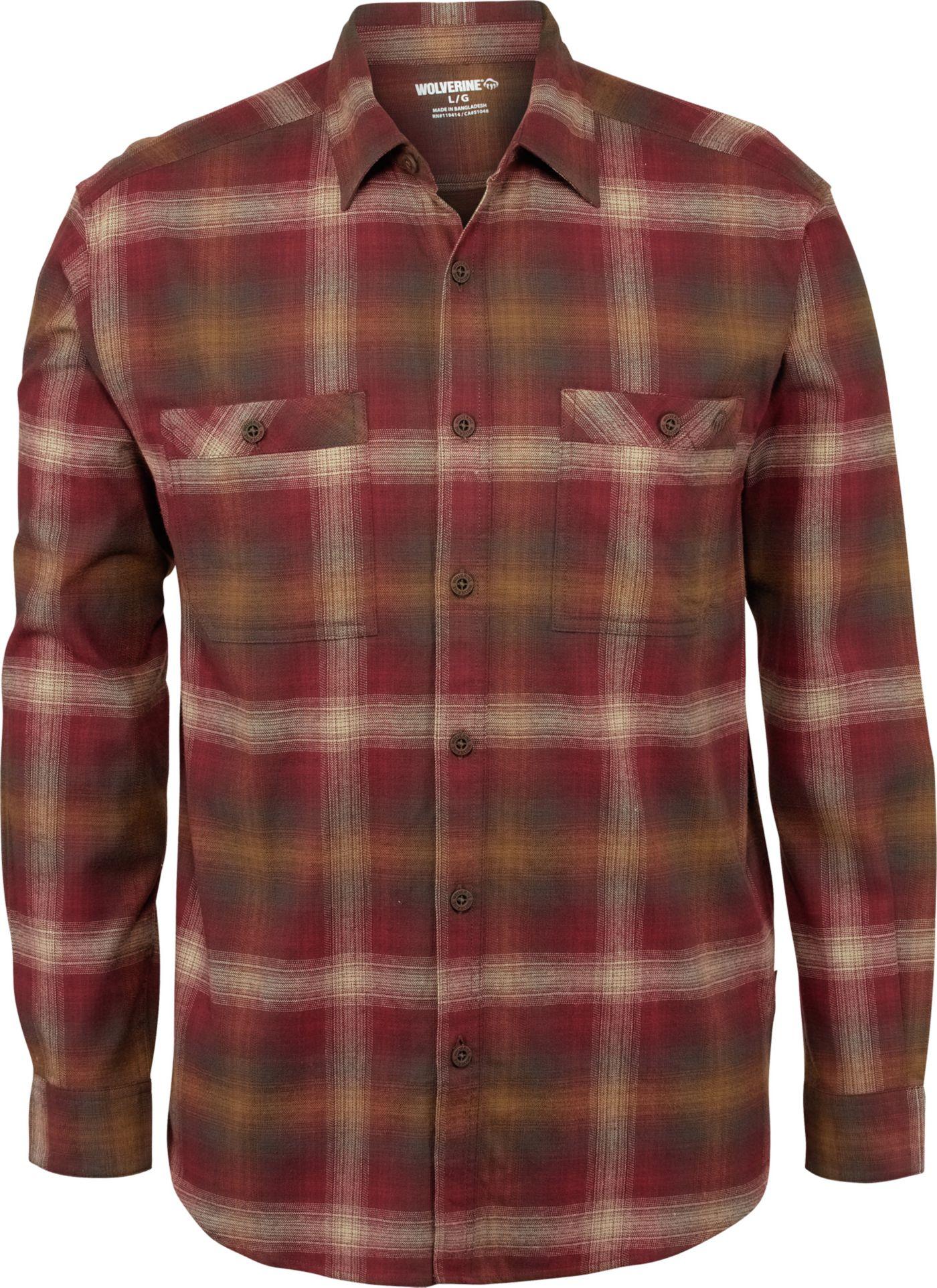 Wolverine Men's Grayson Stretch Long Sleeve Flannel Shirt
