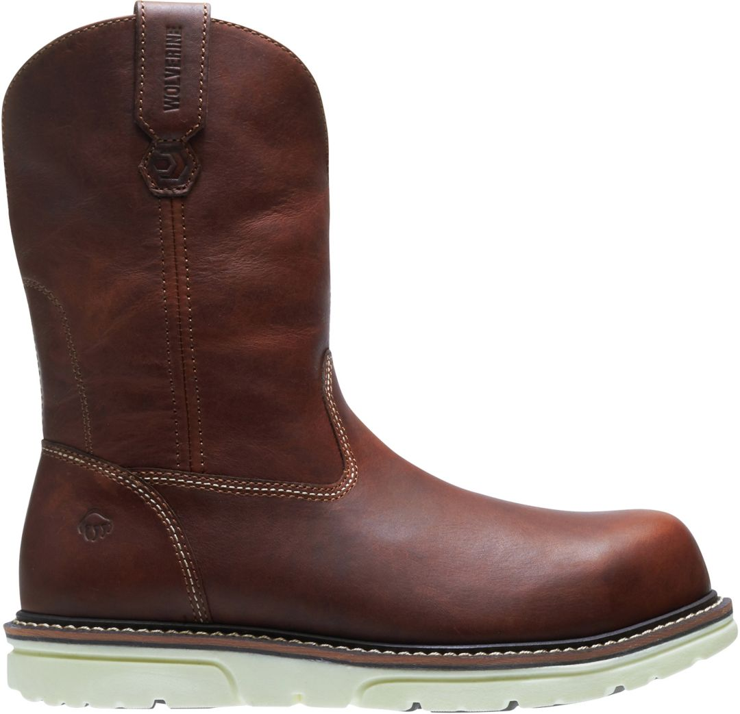 a229393e9e7 Wolverine Men's I-90 DuraShocks Wellington Wedge 10'' Composite Toe Work  Boots