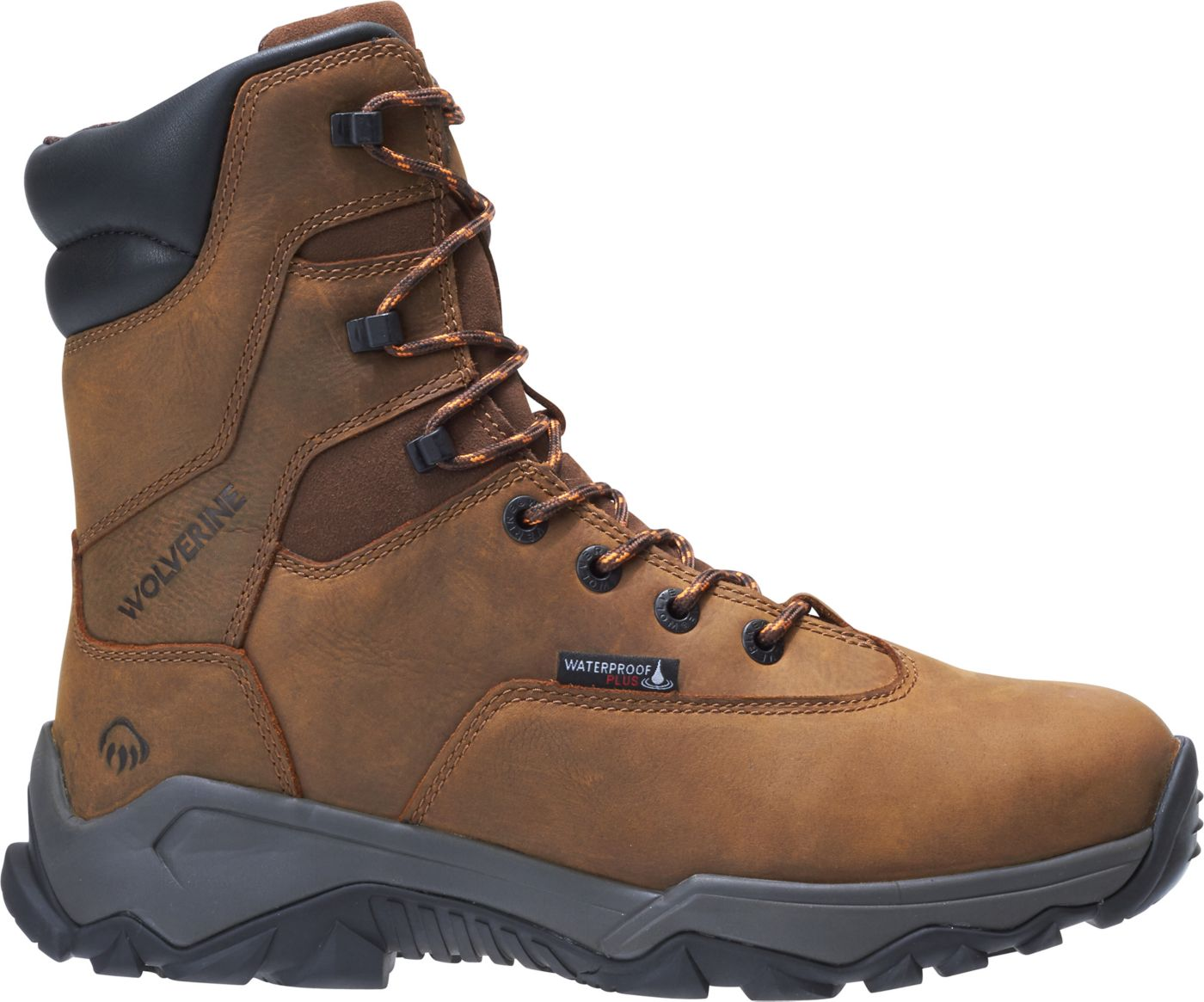 Wolverine Men's Glacier II 8'' 600g Waterproof Composite Toe Work Boots