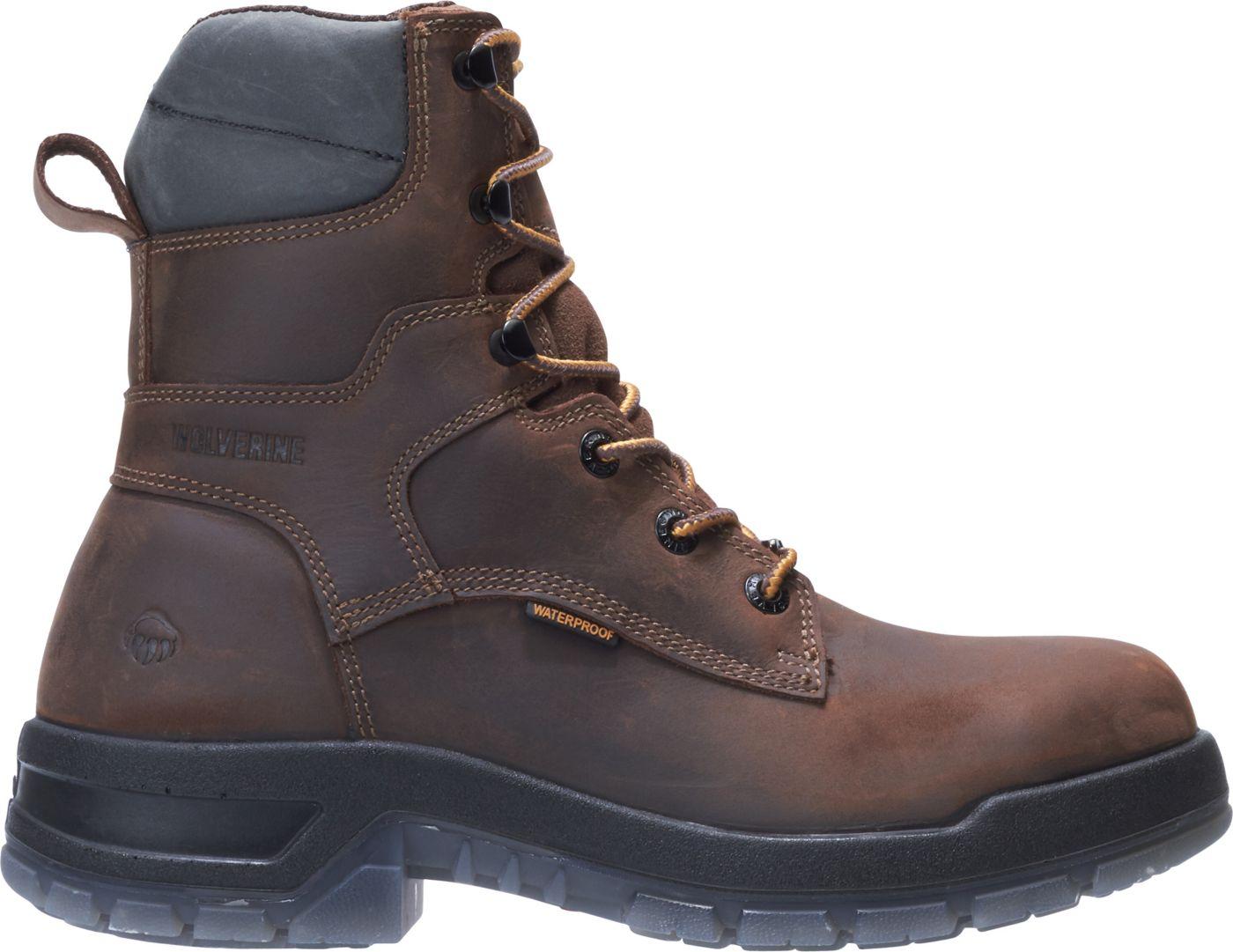 Wolverine Men's Rampart USA 8'' Waterproof Composite Toe Work Boots