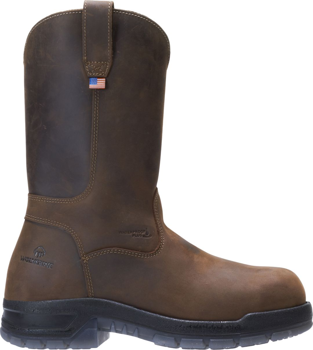 3c2fbae7a9c Wolverine Men's Rampart USA Wellington Waterproof Work Boots