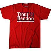 BreakingT Men's 'Trout Rendon 2020' Red T-Shirt