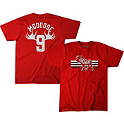 BreakingT Men's Cincinnati Reds Mike Moustakas 'Mooose' Red T-Shirt