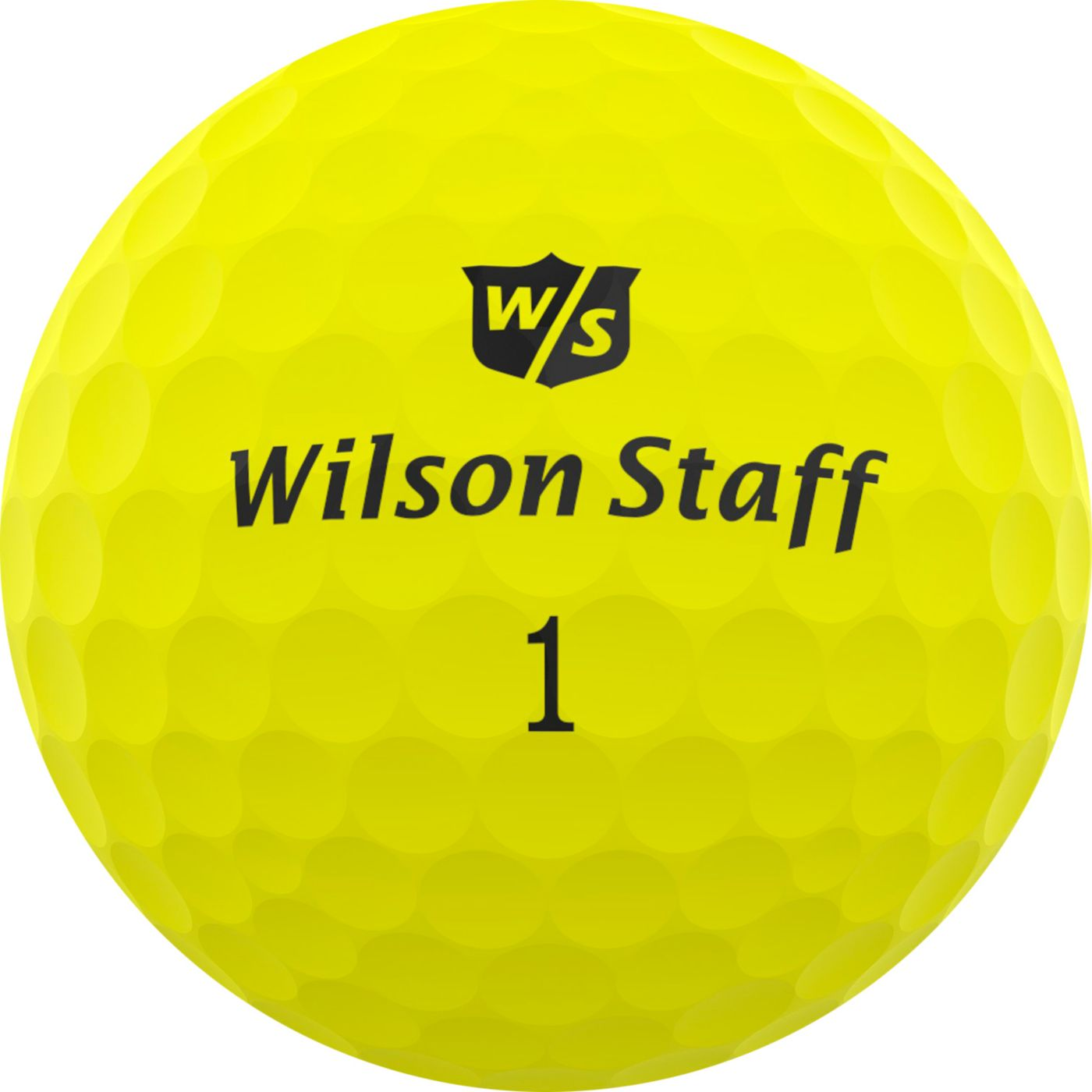 Wilson Staff Duo Professional Matte Yellow Personalized Golf Balls