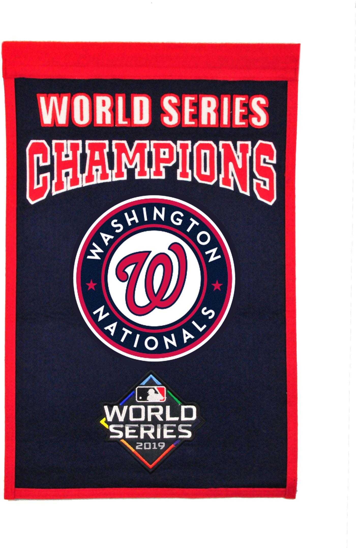 Winning Streak Sports 2019 World Series Champions Washington Nationals Championship Banner