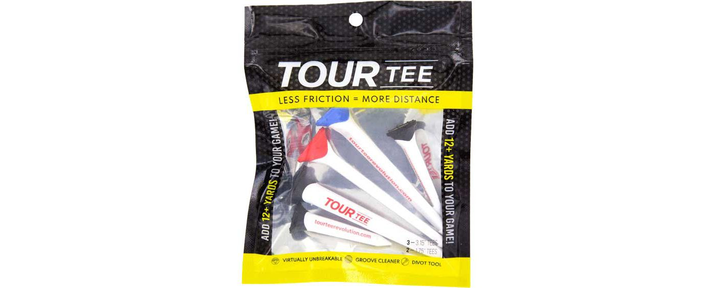 "TourTee 3.15"" & 1.75"" Revolution Golf Tee Combo - 5 Pack"