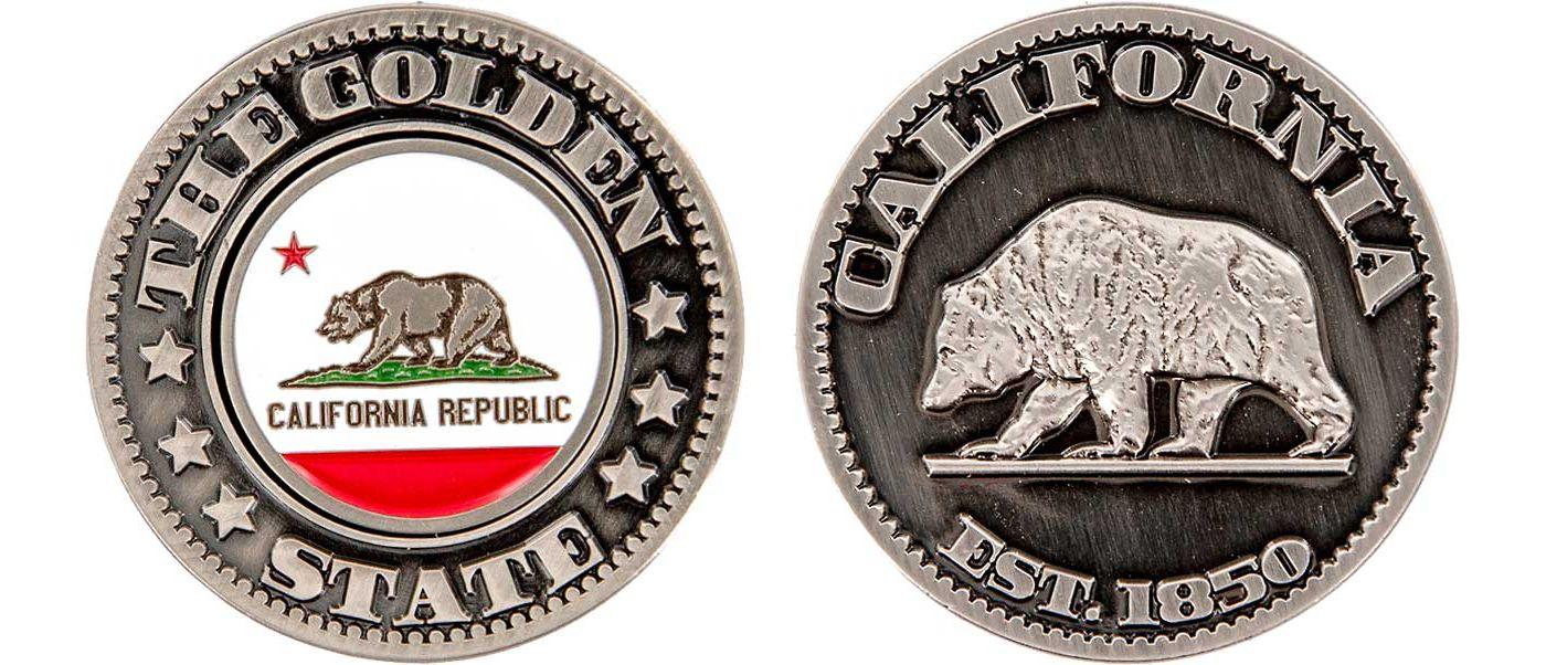 CMC Design California Collector Coin Ball Marker