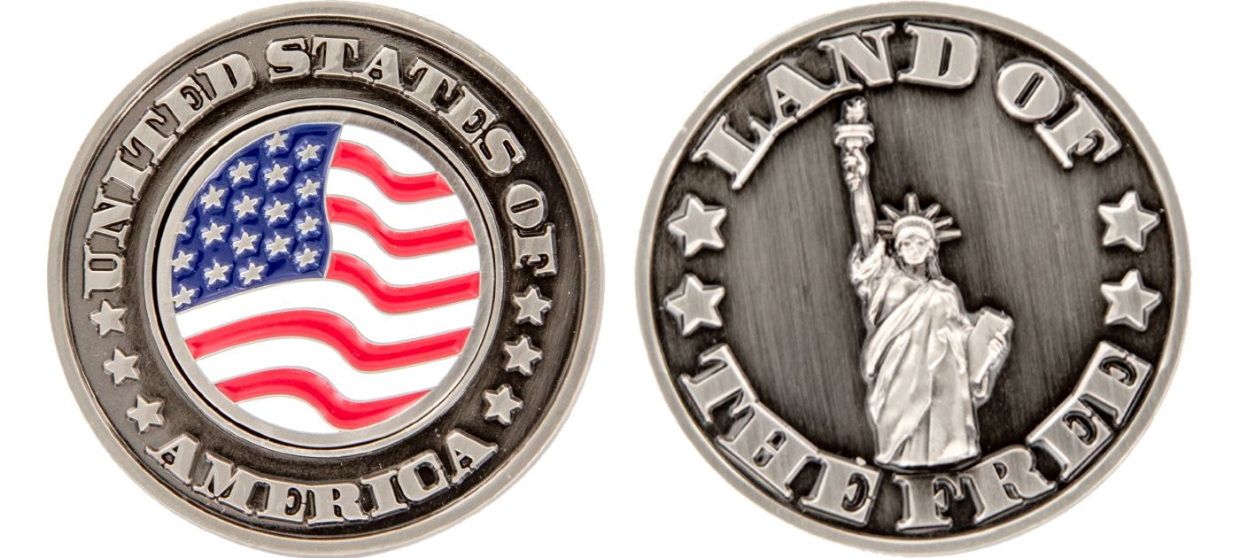 CMC Design USA Land Of The Free Collector Coin Ball Marker