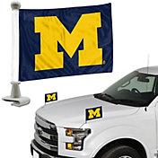 Team Promark Michigan Wolverines Car Flag Pair