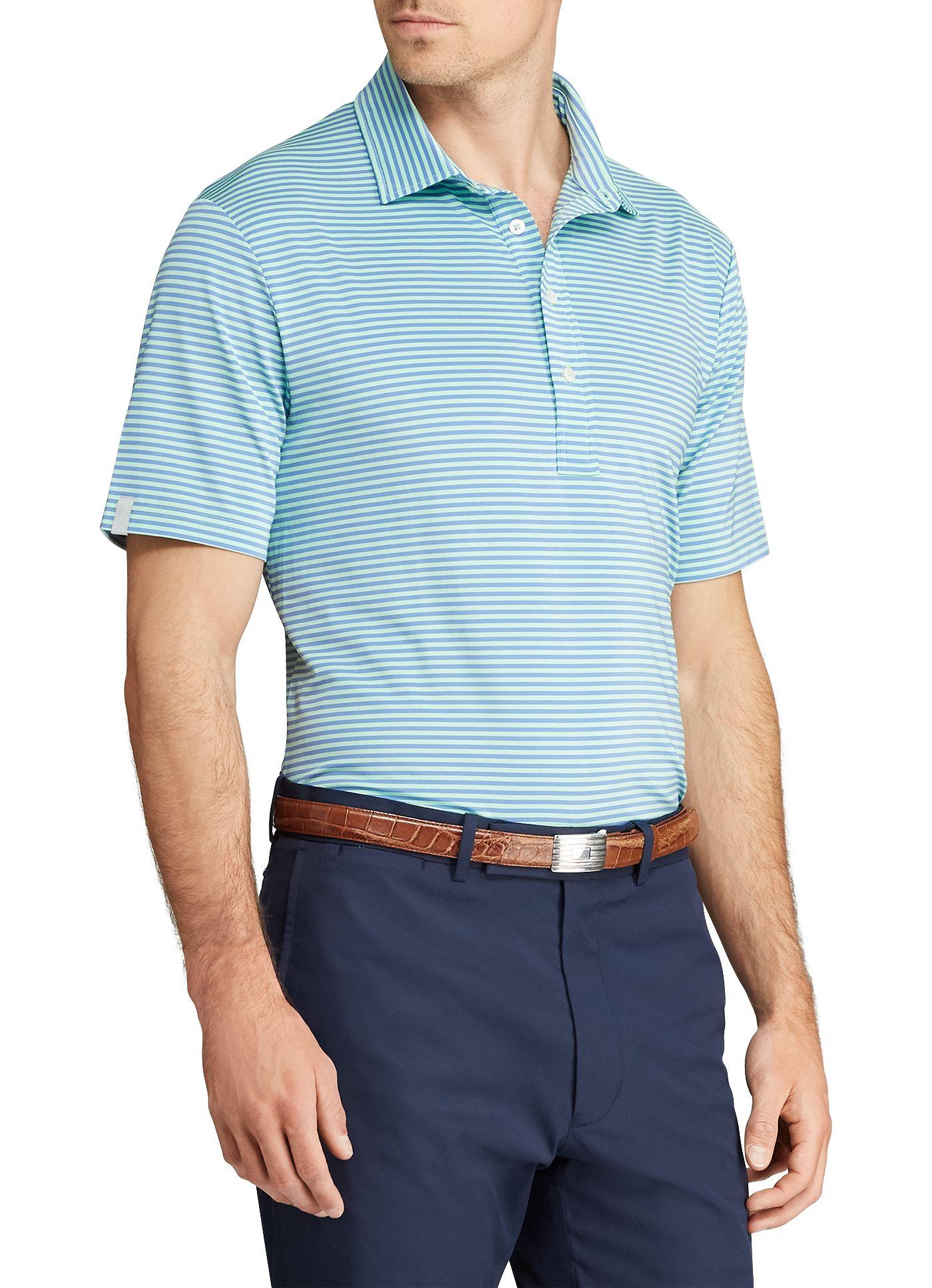 RLX Golf Men's Lightweight Stripe Golf Polo