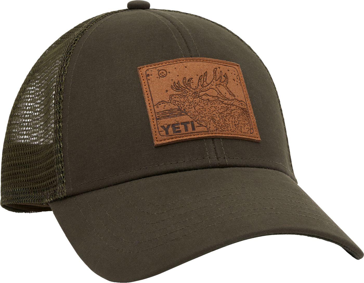 YETI Men's Leather Patch Trucker Hat