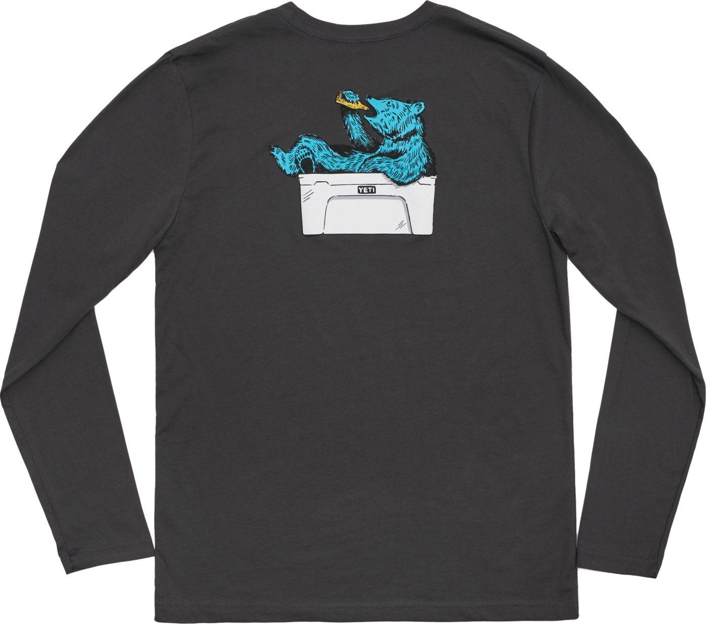 Yeti Men's Thirsty Bear Cooler Long Sleeve T-Shirt