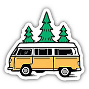 Stickers Northwest Bus and Trees Sticker