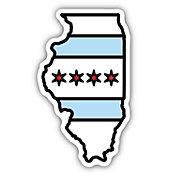 Stickers Northwest Illinois State Flag Sticker