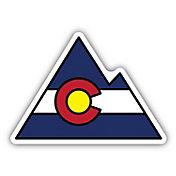 Stickers Northwest Colorado Flag Mountain Sticker