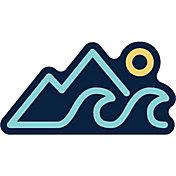 Stickers Northwest Mountains, Wave, Sun Sticker