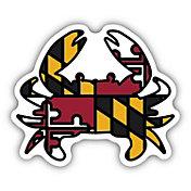 Stickers Northwest Maryland Flag Crab Sticker