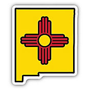 Stickers Northwest New Mexico State Flag Sticker