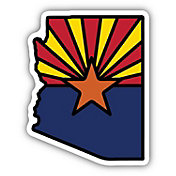 Stickers Northwest Arizona State Flag Sticker