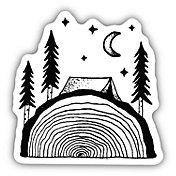 Stickers Northwest Sawing Logs Sticker