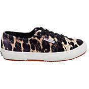 Superga Women's 2750 FANVELVETW Classic Leopard Shoes