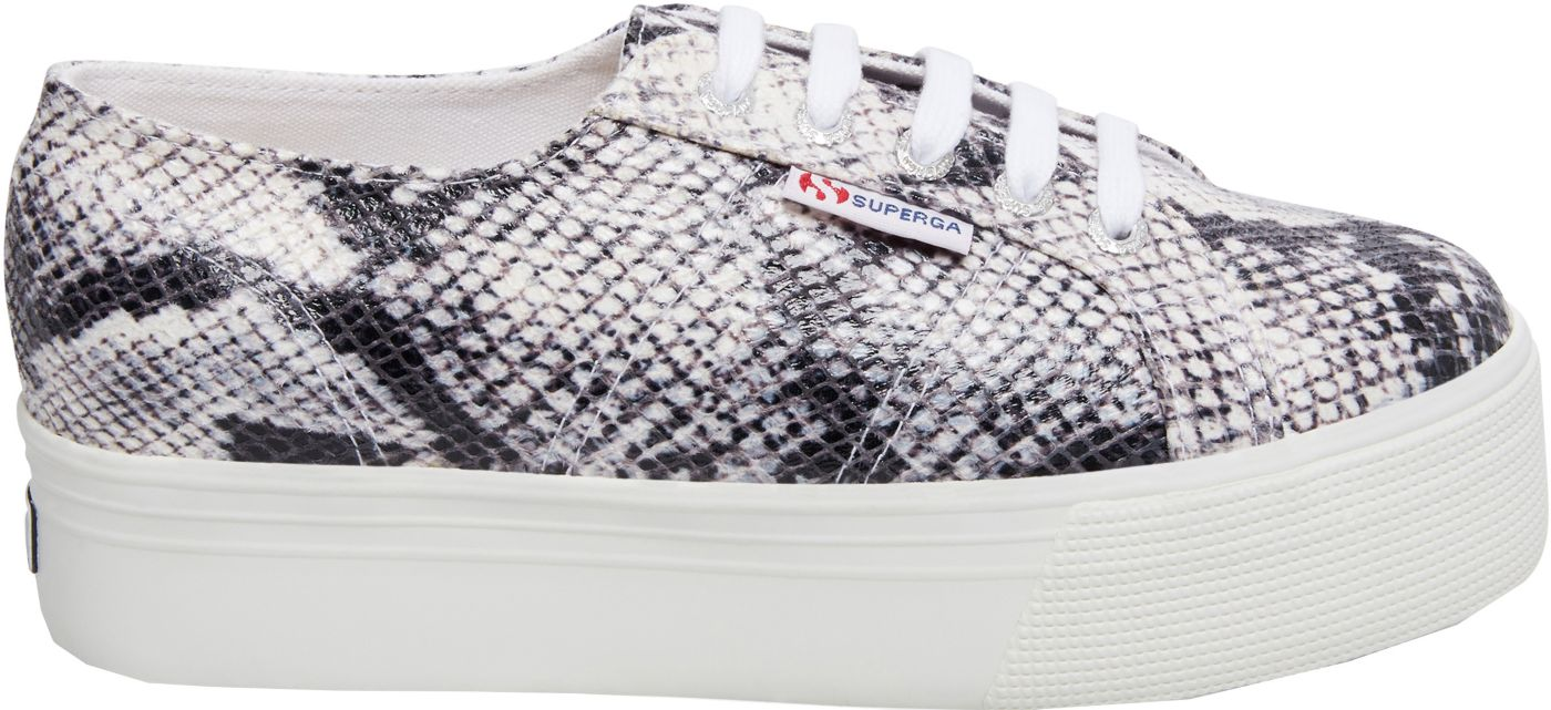 Superga Women's 2790 PUFANW Snake Print Platform Shoes