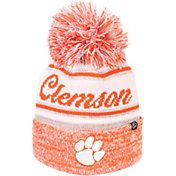 Zephyr Men's Clemson Tigers Orange Diana Pom Knit Beanie