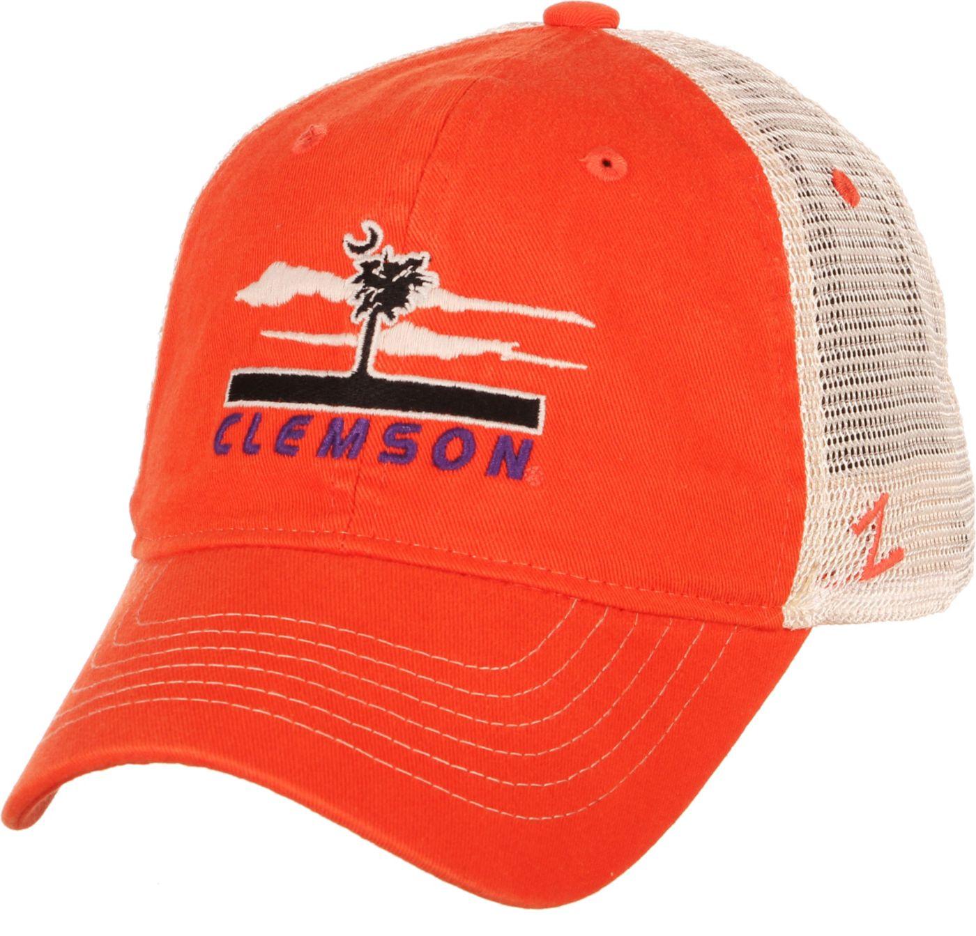 Zephyr Men's Clemson Tigers Orange/White Adjustable Trucker Hat