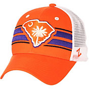 Zephyr Men's Clemson Tigers Orange/White State Flag Adjustable Hat